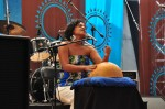 Maia von Lekow pounds the calabash - it seems you can make an instrument out of just about anything. A mixture of soul, blues and her own Kenyan style. If she'd had a CD I'd have bought one.