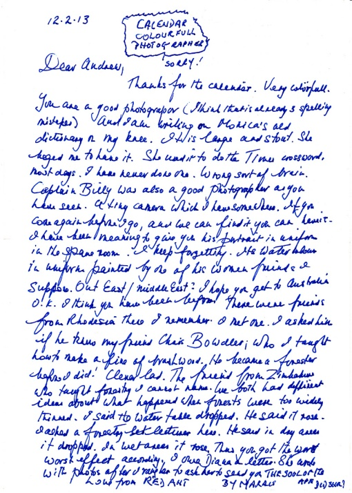 Cursive writing from a 90 year old!
