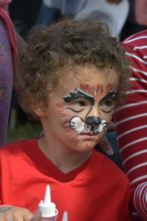 Face painting was very popular