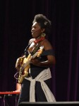 Edith WeUtunga. Unusually for a lead vocalist (in her own band) she is also the bass guitarist.