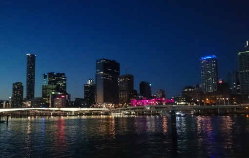 BrisVegas from the south bank of the Brisbane River