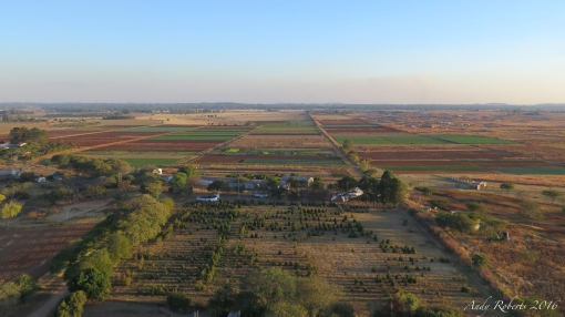 A drone's eye view of the farm where I live